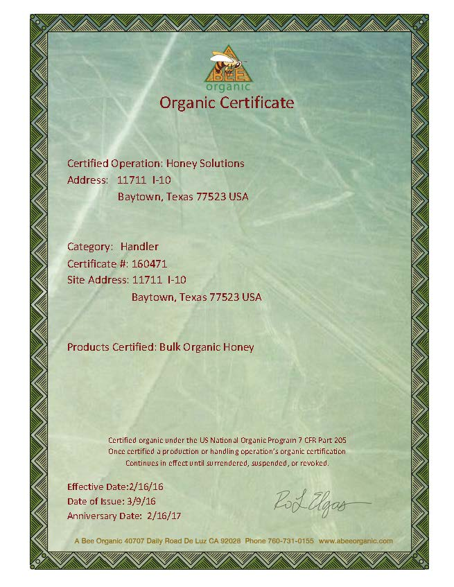 Bulk Organic Honey Wholesalers