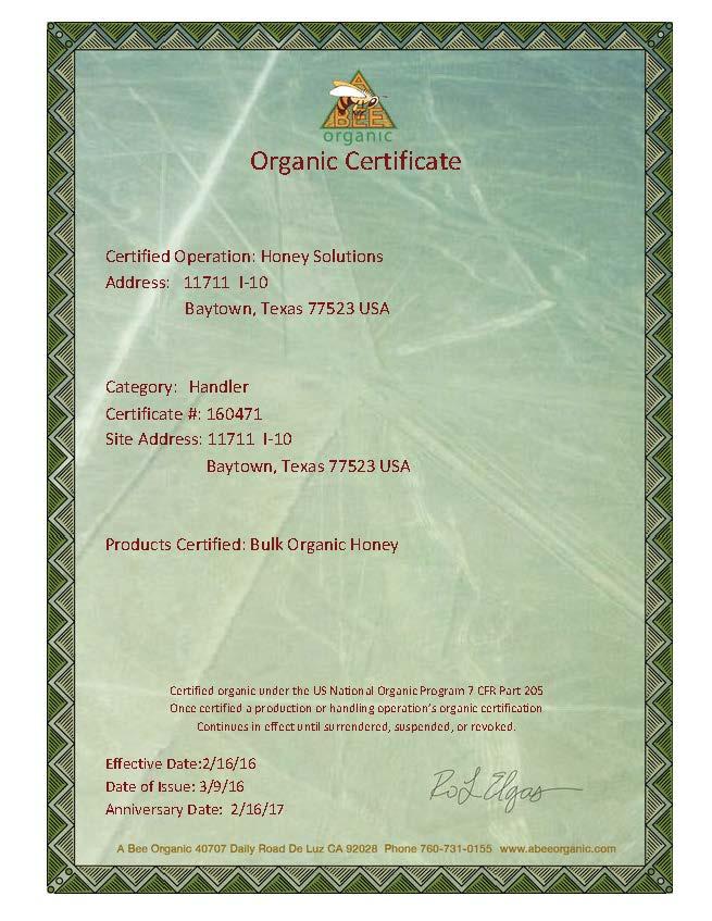 Bulk Organic Honey Wholesalers